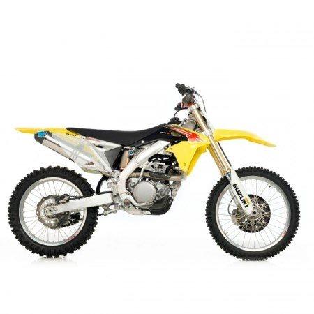 LeoVince X3 Motocross/Supermoto Full-System Titan (full-titanium-system)  94dB / Carbon end-cap for SUZUKI RM-Z 450 2010 - 2010