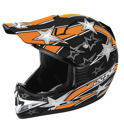 IXS HX 267 mx-helmet orange-black-matt x12000-m36-xl (size XL) motocross-helmet ixs hx 267