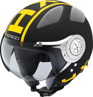 IXS HX 80 jet-helmet black-yellow-matt x10001-m35-m (size M)