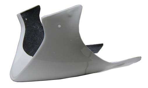 Barracuda Bellypan / Engine-spoiler for Yamaha FZ1 (unpainted white)